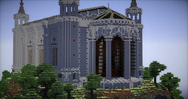 Basilica Notre Dame de Fourviere minecraft building ideas castle mountain 2
