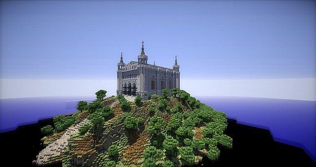 Basilica Notre Dame de Fourviere minecraft building ideas castle mountain 3