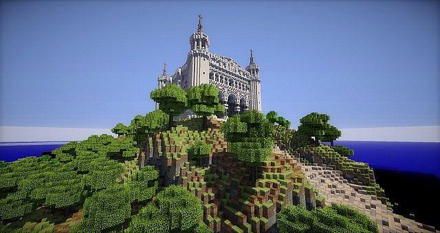 Basilica Notre Dame de Fourviere minecraft building ideas castle mountain 4