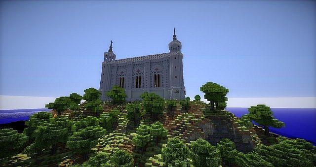 Basilica Notre Dame de Fourviere minecraft building ideas castle mountain 5