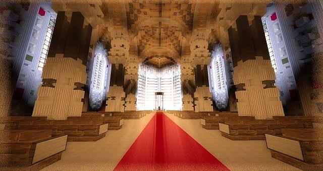 Basilica Notre Dame de Fourviere minecraft building ideas castle mountain 6