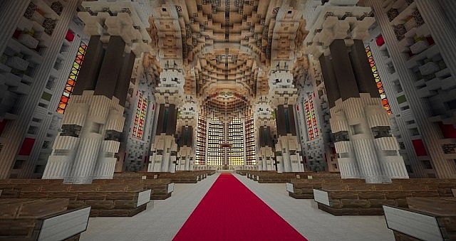 Basilica Notre Dame de Fourviere minecraft building ideas castle mountain 7