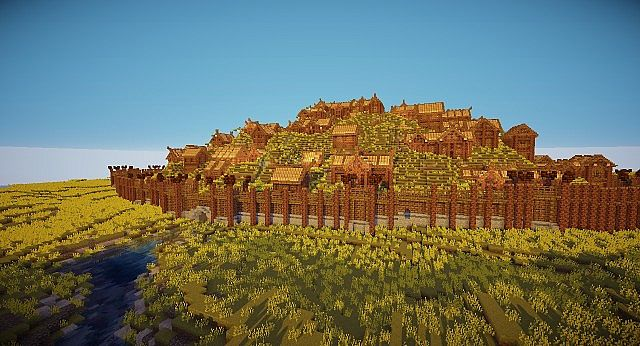 Edoras - Capital of Rohan minecraft building ideas city hill mountain 5