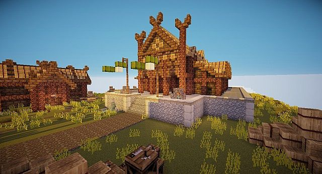 Edoras - Capital of Rohan minecraft building ideas city hill mountain 7