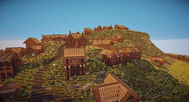Edoras - Capital of Rohan minecraft building ideas city hill mountain 8