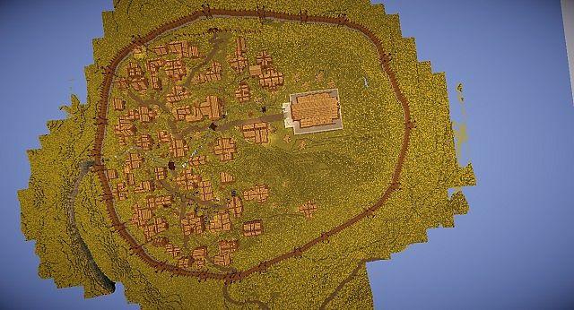 Edoras - Capital of Rohan minecraft building ideas city hill mountain 9