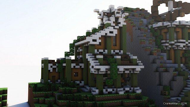 Elven Style Building Bundle house design minecraft ideas 14