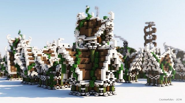 Elven Style Building Bundle house design minecraft ideas 2
