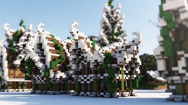 Elven Style Houses Building Bundle Minecraft