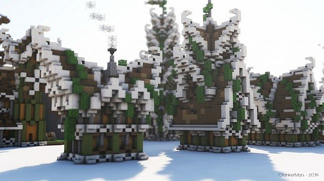 Elven Style Building Bundle house design minecraft ideas 4