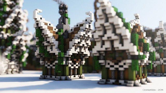 Elven Style Building Bundle house design minecraft ideas 5