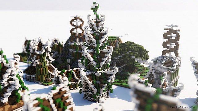 Elven Style Building Bundle house design minecraft ideas 7