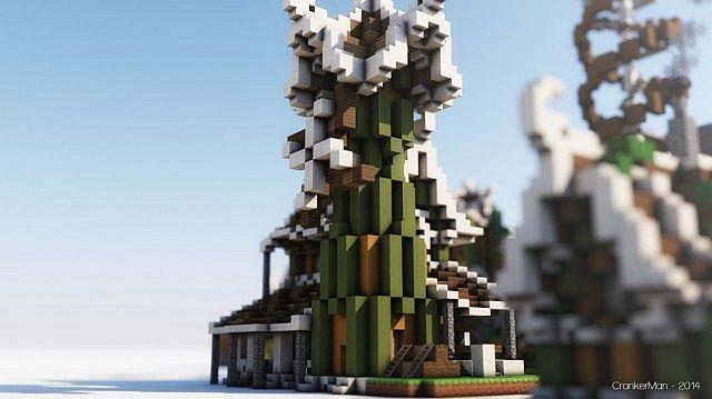 Elven Style Building Bundle house design minecraft ideas 9
