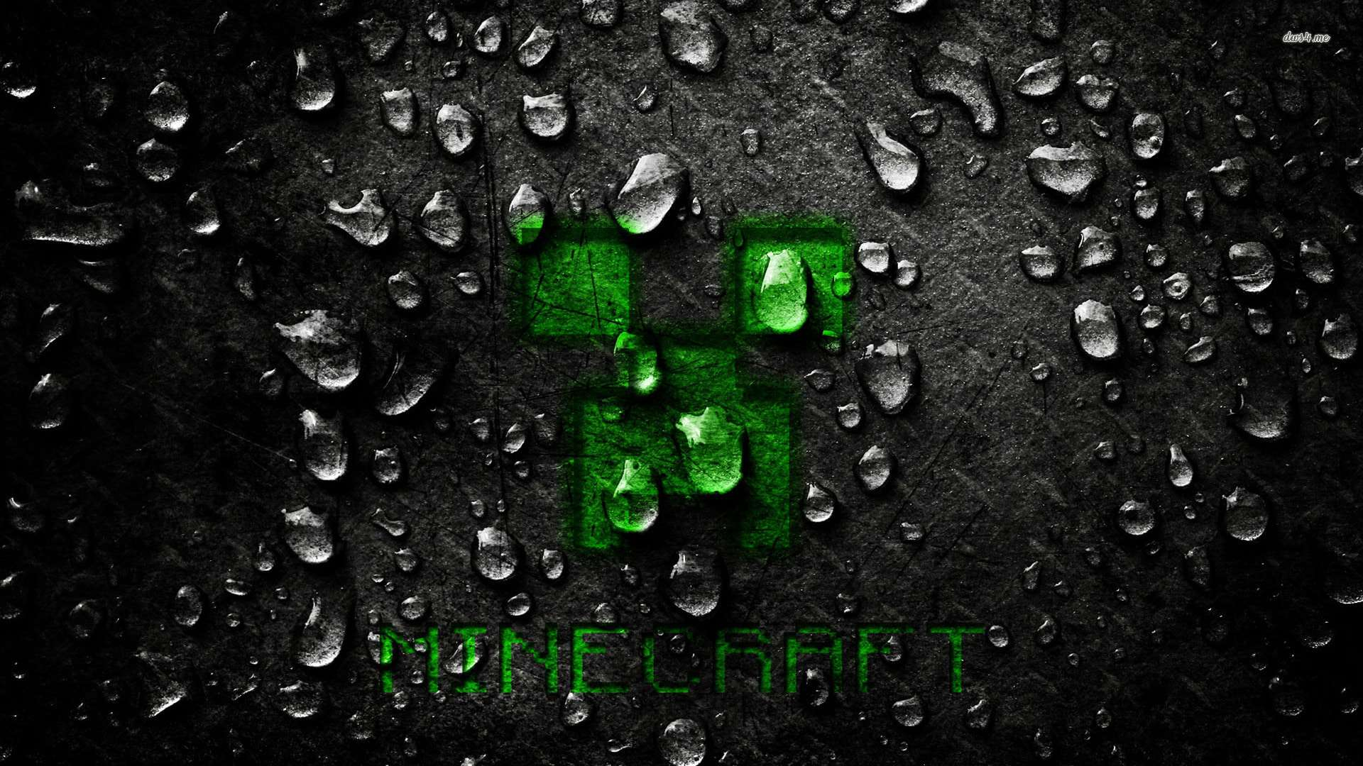 Minecraft creeper wallpaper rain cover backgorund