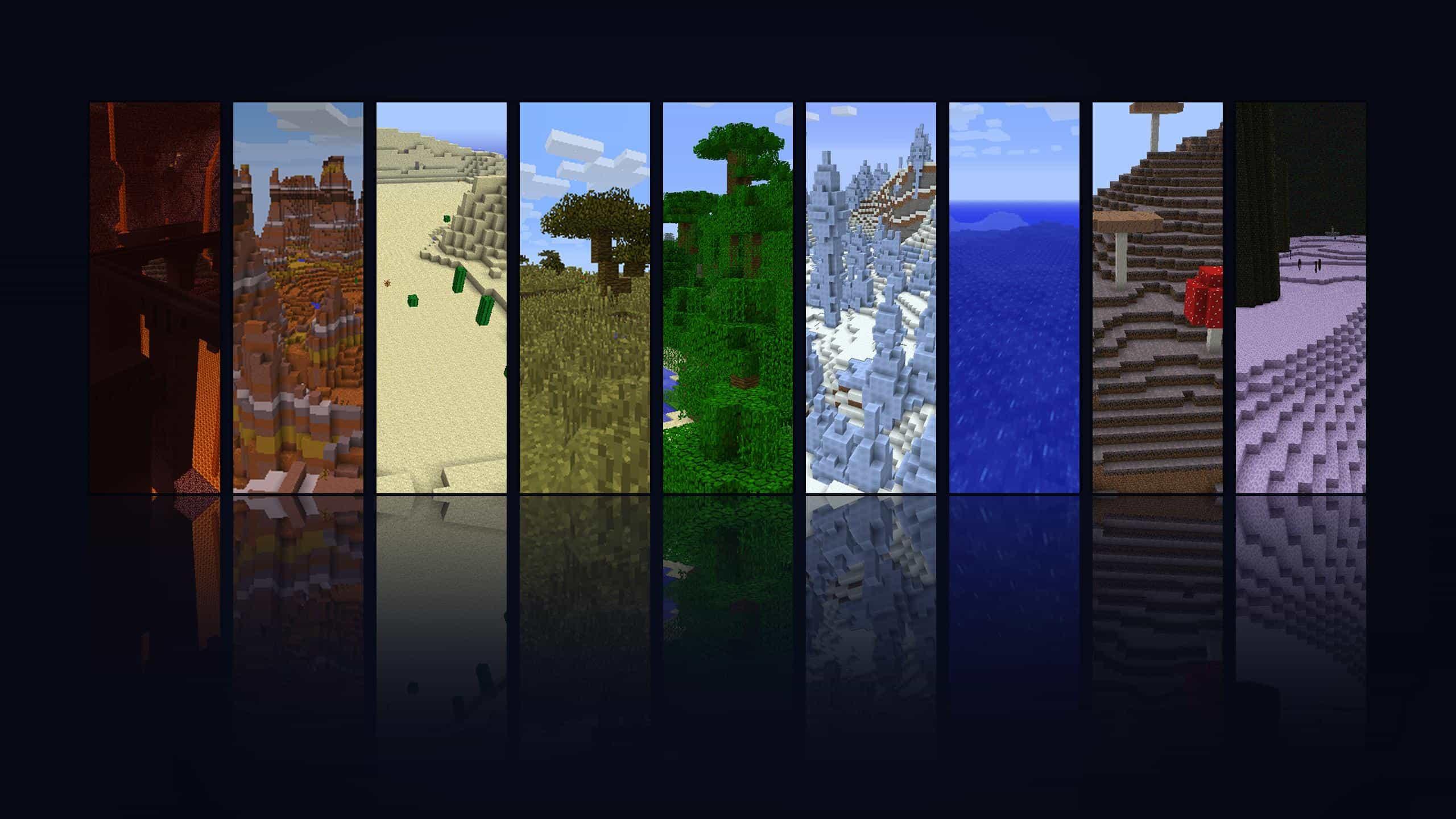 Minecraft seasons territory background