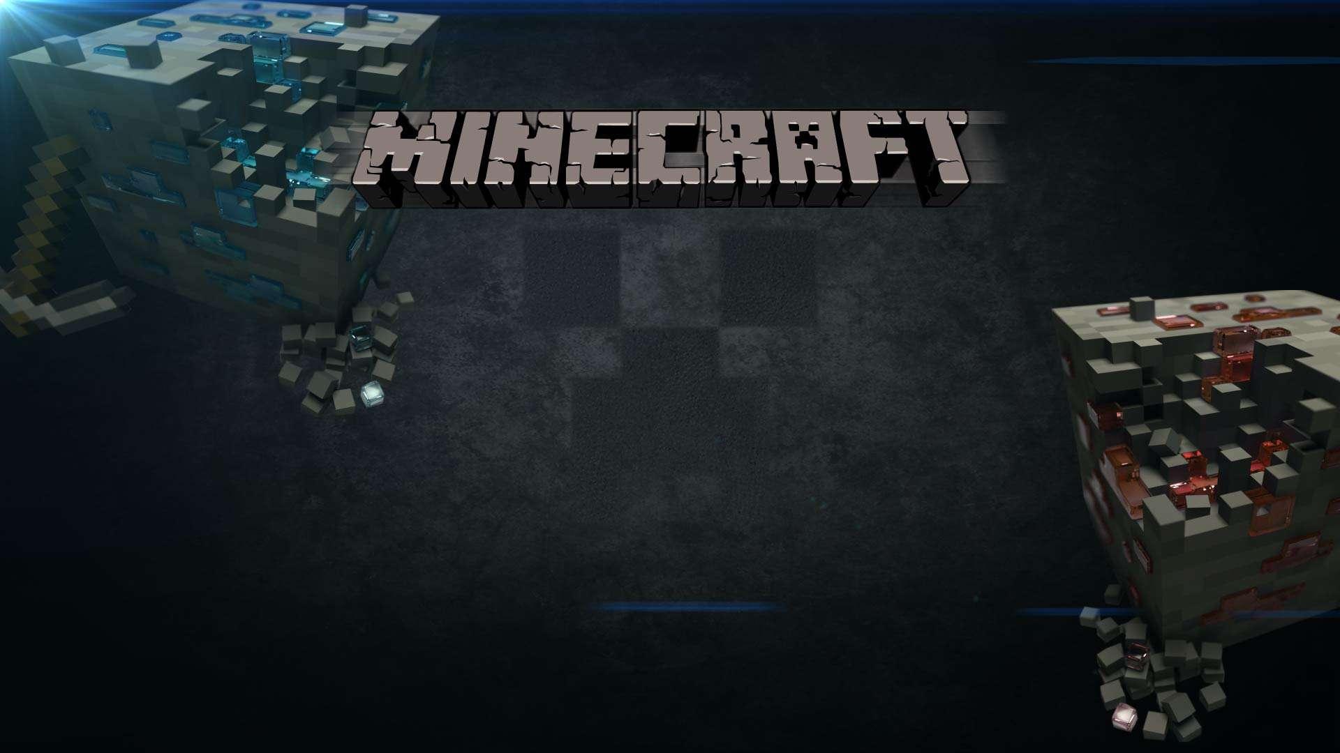 Minecraft spacy wallpaper background blocks