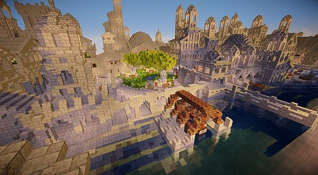 Osgiliath - Ancient Capital of Gondor minecraft LOTR building ideas 10