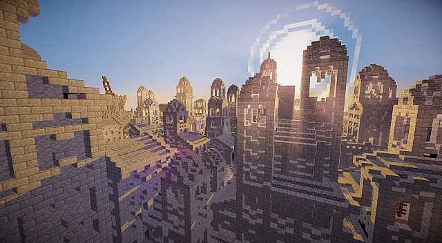 Osgiliath - Ancient Capital of Gondor minecraft LOTR building ideas 11
