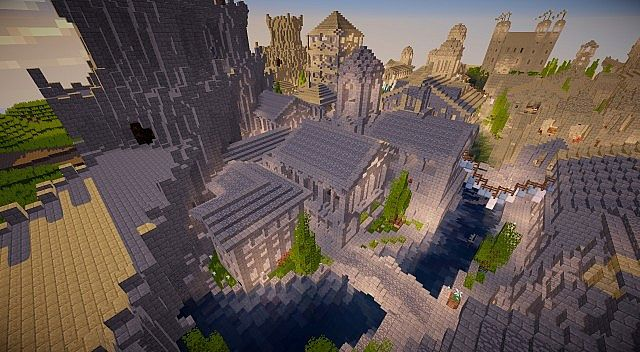 Osgiliath - Ancient Capital of Gondor minecraft LOTR building ideas 15