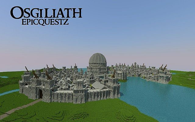 Osgiliath - Ancient Capital of Gondor minecraft LOTR building ideas 2