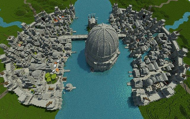 Osgiliath - Ancient Capital of Gondor minecraft LOTR building ideas 3