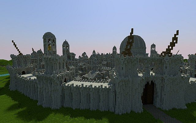 Osgiliath - Ancient Capital of Gondor minecraft LOTR building ideas 4