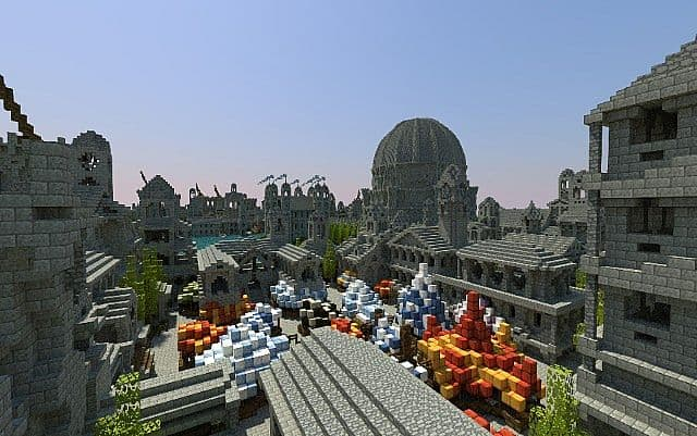 Osgiliath - Ancient Capital of Gondor minecraft LOTR building ideas 6