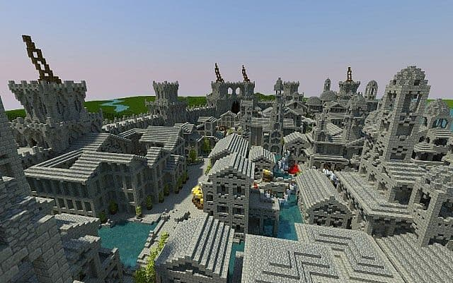 Osgiliath - Ancient Capital of Gondor minecraft LOTR building ideas 7