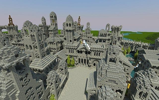 Osgiliath - Ancient Capital of Gondor minecraft LOTR building ideas 8