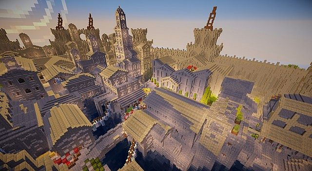 Osgiliath - Ancient Capital of Gondor minecraft LOTR building ideas 9
