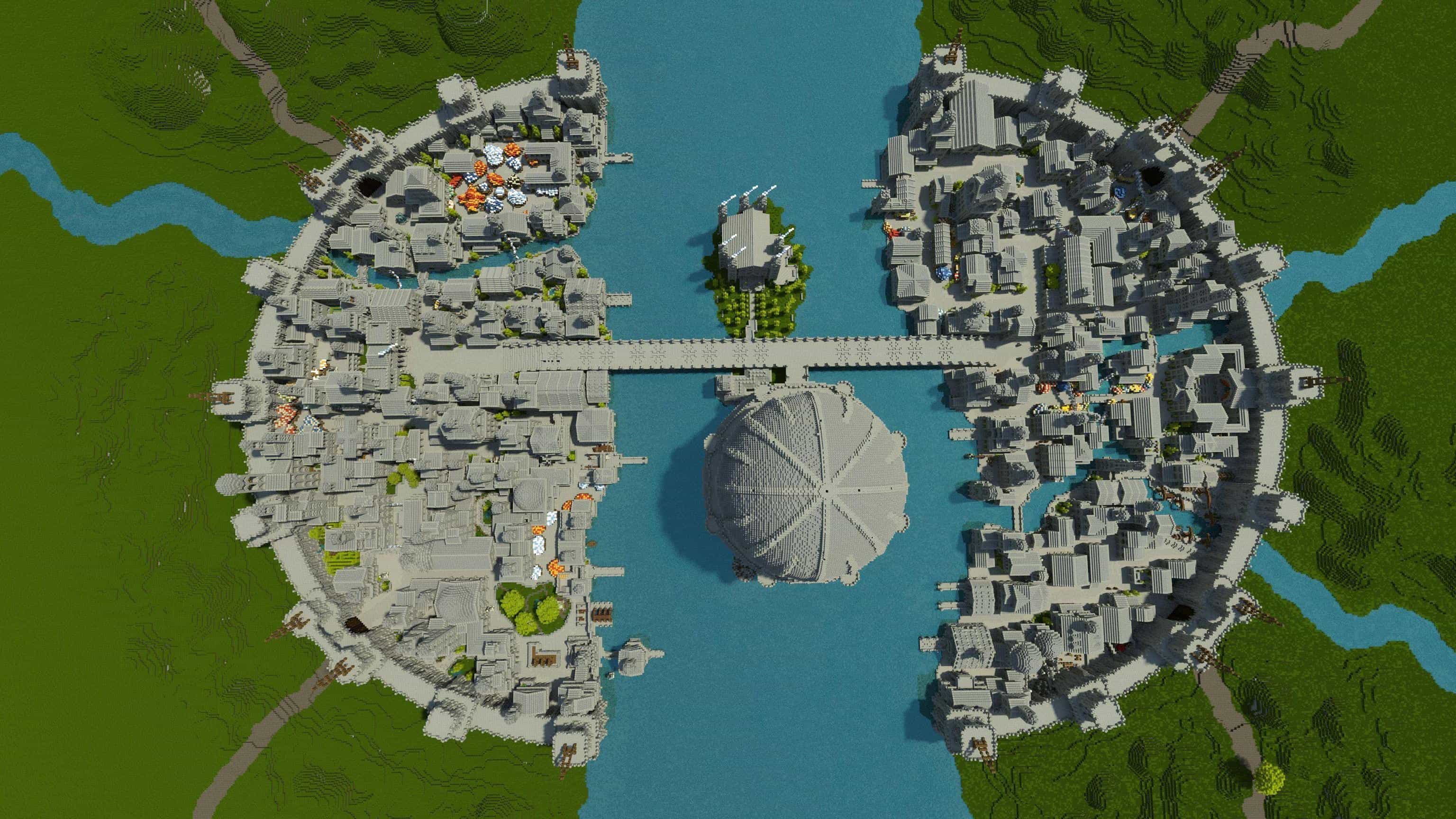 Osgiliath - Ancient Capital of Gondor minecraft LOTR building ideas