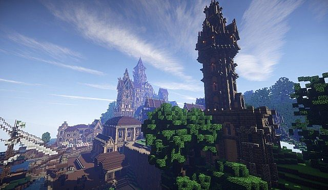 Pophasus minecraft city town old medieval kingdom build ideas 13