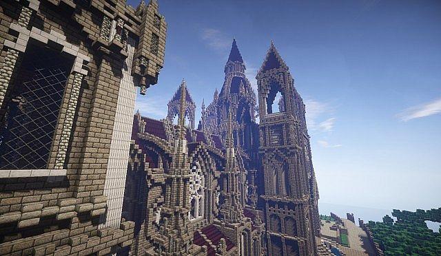 Pophasus minecraft city town old medieval kingdom build ideas 15