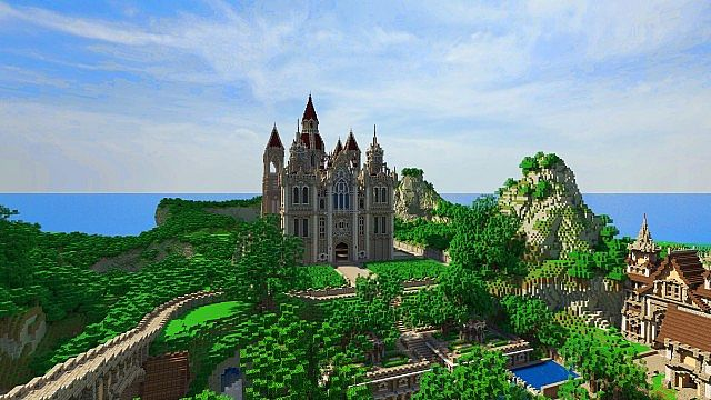 Pophasus minecraft city town old medieval kingdom build ideas 3