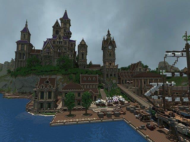 Pophasus minecraft city town old medieval kingdom build ideas 5
