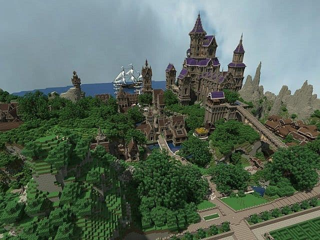Pophasus minecraft city town old medieval kingdom build ideas 6