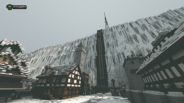 The Wall with Castle Black minecraft game of thrones download build ideas 4