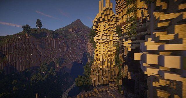 Wizard's Temple minecraft castle build ideas mountains 3