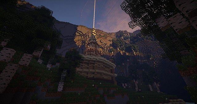 Wizard's Temple minecraft castle build ideas mountains 5