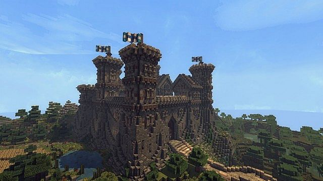 Ymers Castle minecraft buildign midevil brick 2