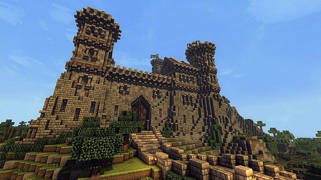 Ymers Castle minecraft buildign midevil brick 3
