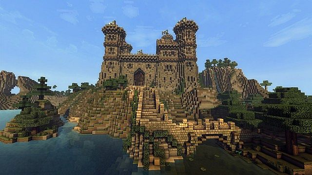 Ymers Castle minecraft buildign midevil brick 4