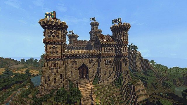 Ymers Castle minecraft buildign midevil brick 5