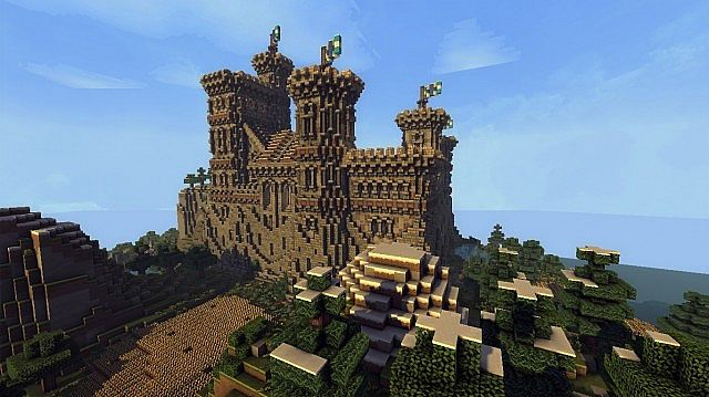 Ymers Castle minecraft buildign midevil brick 6