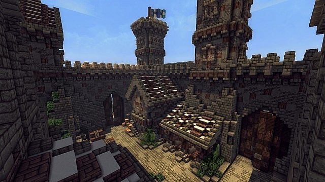 Ymers Castle minecraft buildign midevil brick 9