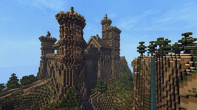 Ymers Castle minecraft buildign midevil brick