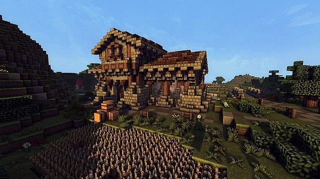 medieval farm minecraft house building ideas 2