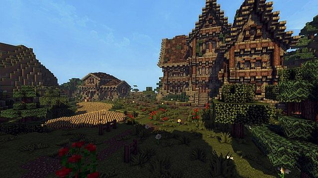 medieval farm minecraft house building ideas 5