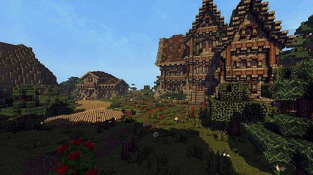 medieval farm minecraft house building ideas 5