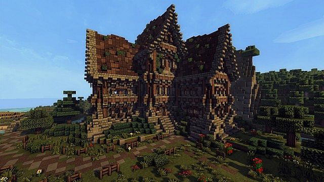 medieval farm minecraft house building ideas